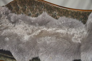 ムートンフリース長毛 グレー系2枚つなぎ灰色系の画像