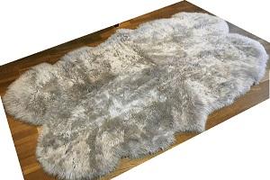 グレー系(灰色)長毛4枚つなぎの画像