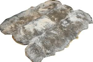 グレー系(灰色)長毛6枚つなぎの画像