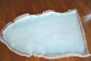 ムートンフリース短毛グレー系の画像
