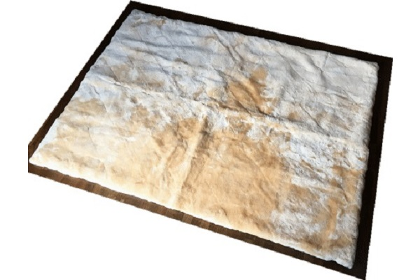 ムートンカーペット長方形ベージュの画像