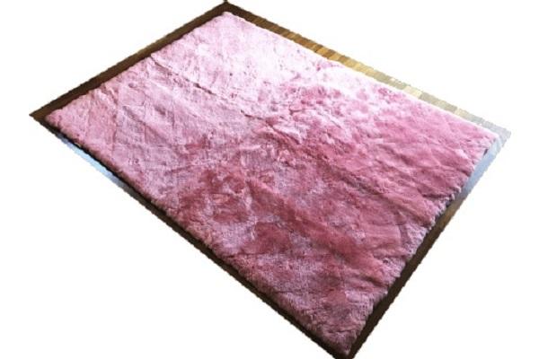 ムートンカーペット長方形ローズピンクの画像