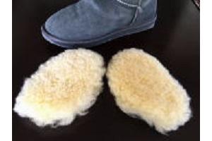 ムートンインソール長靴ブーツ用つま先用長靴タイプの写真