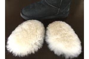 ムートンインソールつま先用長靴スタンダードタイプハーフムートンインソールの画像