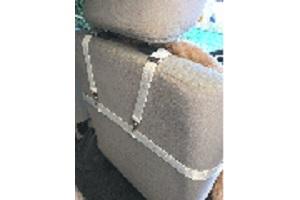 軽カー車用シートグリーン固定ベルト付きの画像