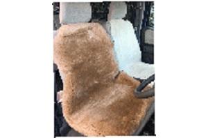 軽カー車用シートブラウン固定ベルト付きの画像
