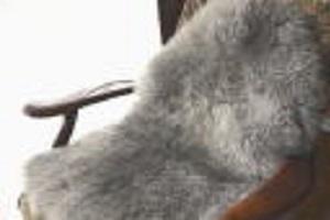 長毛グレー系ムートンフリース濃い灰色系の写真