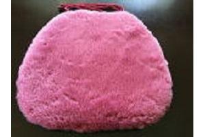 ローズカラー羊毛クッション馬蹄ひも付きタイプ40x38cmローズの画像